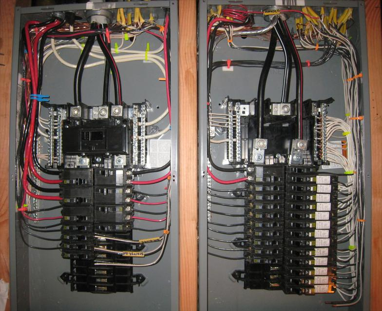 100 amp garage service wiring diagram